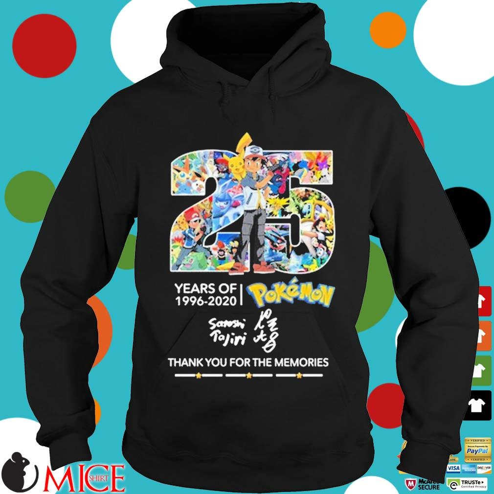 25 years of 1996-2020 Pokemon thank you for the memories signature Hoodie