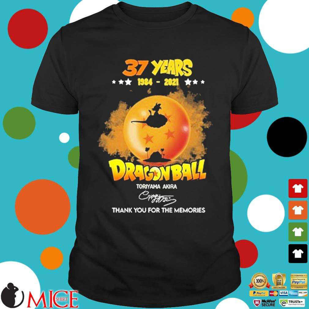 37 years 1984-2021 Dragon Ball thank you for the memories signature shirt
