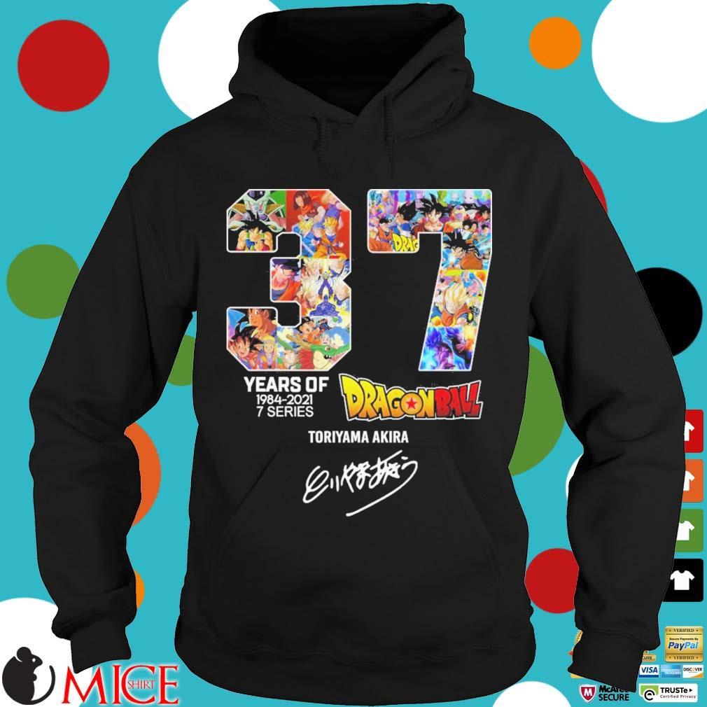 37 years of 1984-2021 7 series Dragon Ball Toriyama Akira signature Hoodie