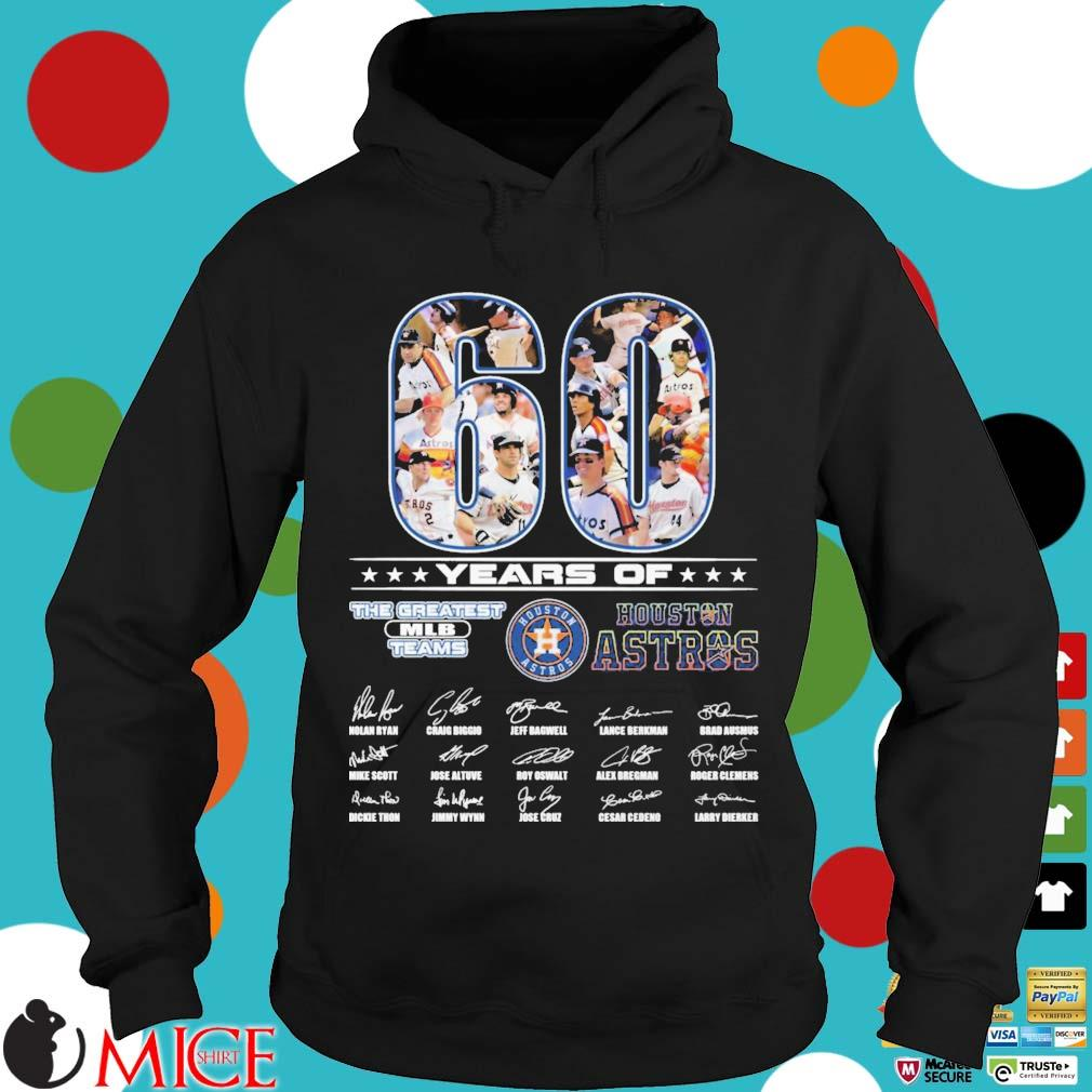 60 years of Houston Astros the greatest MLB teams signatures Hoodie