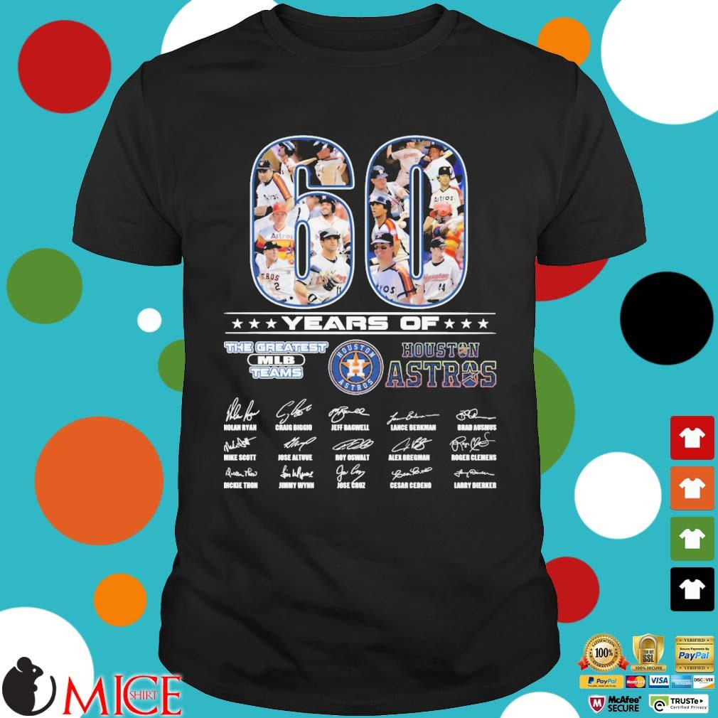 60 years of Houston Astros the greatest MLB teams signatures shirt