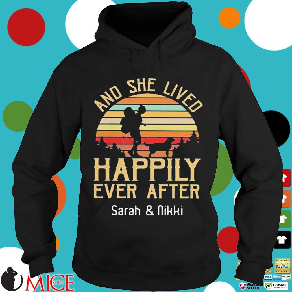 And She Lived Happily Ever After Sarah And Nikki Vintage Sunset Shirt Hoodie