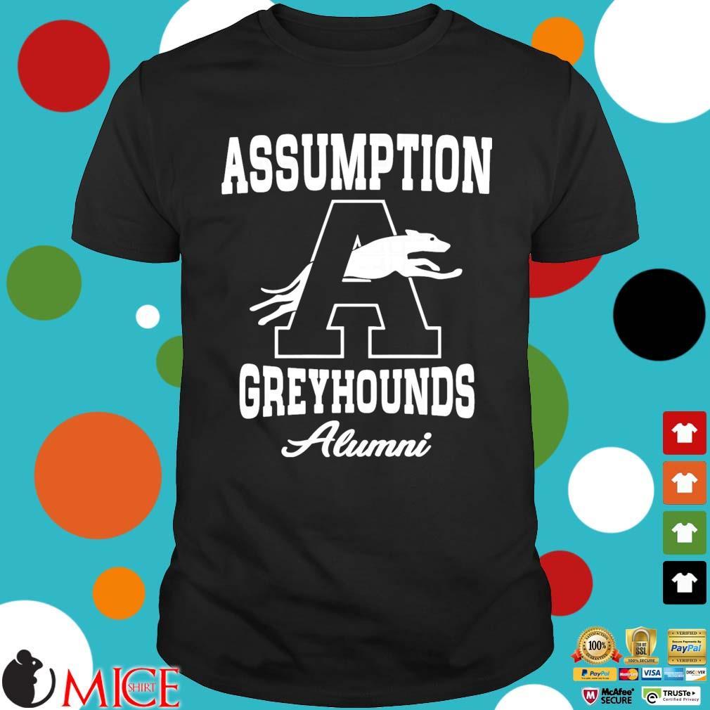 Assumption greyhounds shirt