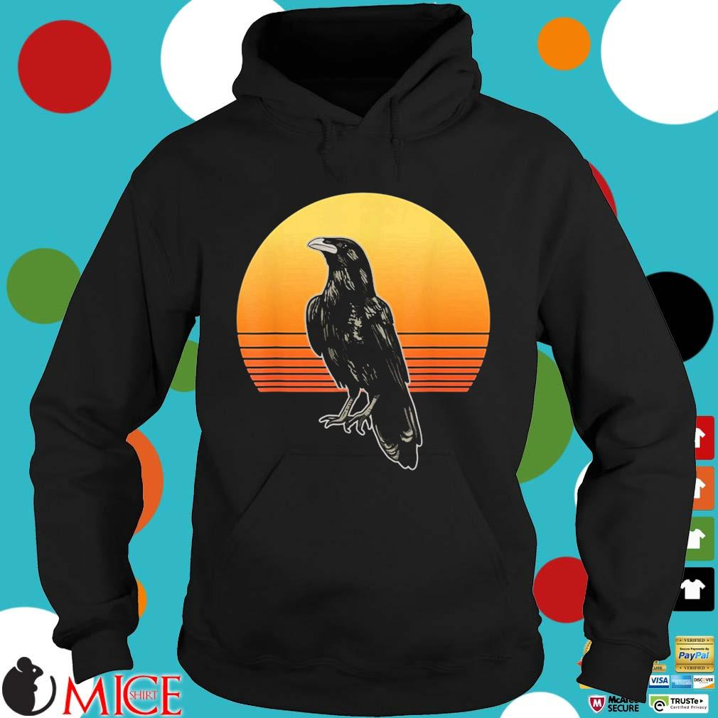 Crow Bird Sun For Crow And Raven Lovers Sunset Shirt Hoodie