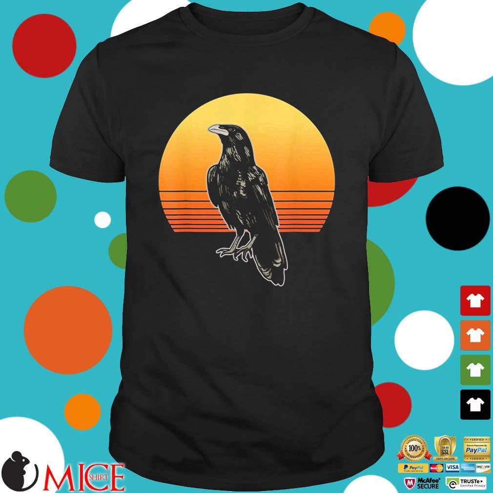 Crow Bird Sun For Crow And Raven Lovers Sunset Shirt