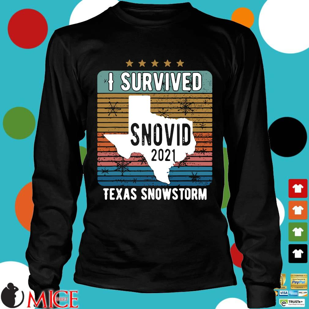 Funny I survived snovid 2021 Texas strong vintage s Longsleeve