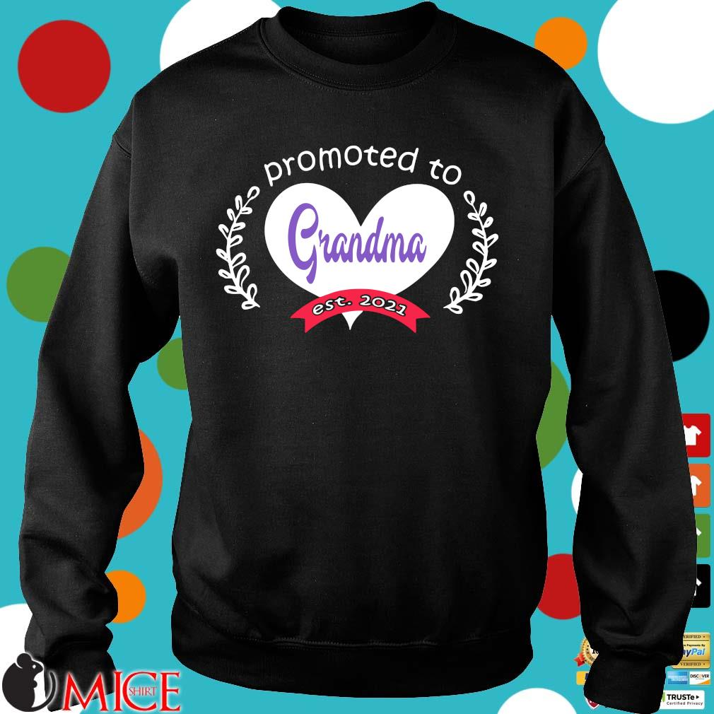 Heart promoted to grandma est 2021 s Sweater