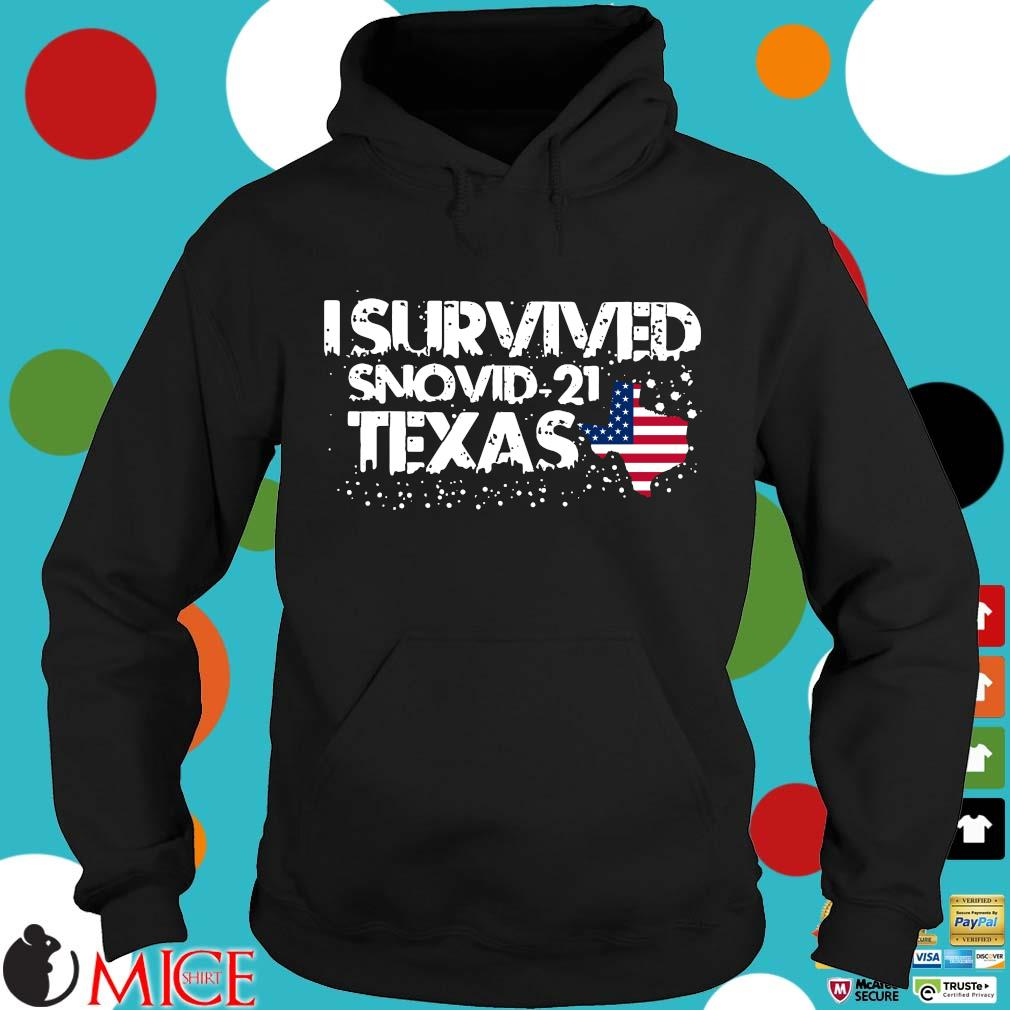 Hot I survived snovid-21 Texas American flag s Hoodie
