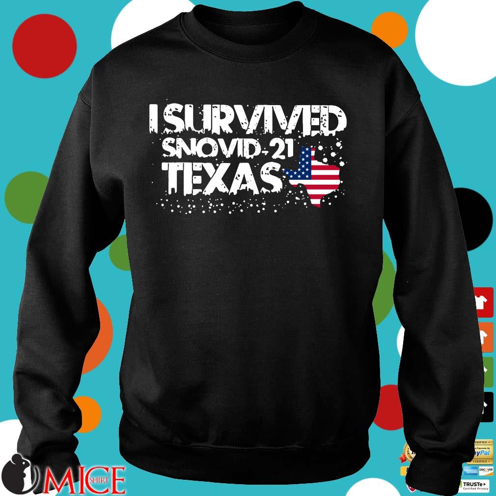 Hot I survived snovid-21 Texas American flag s Sweater