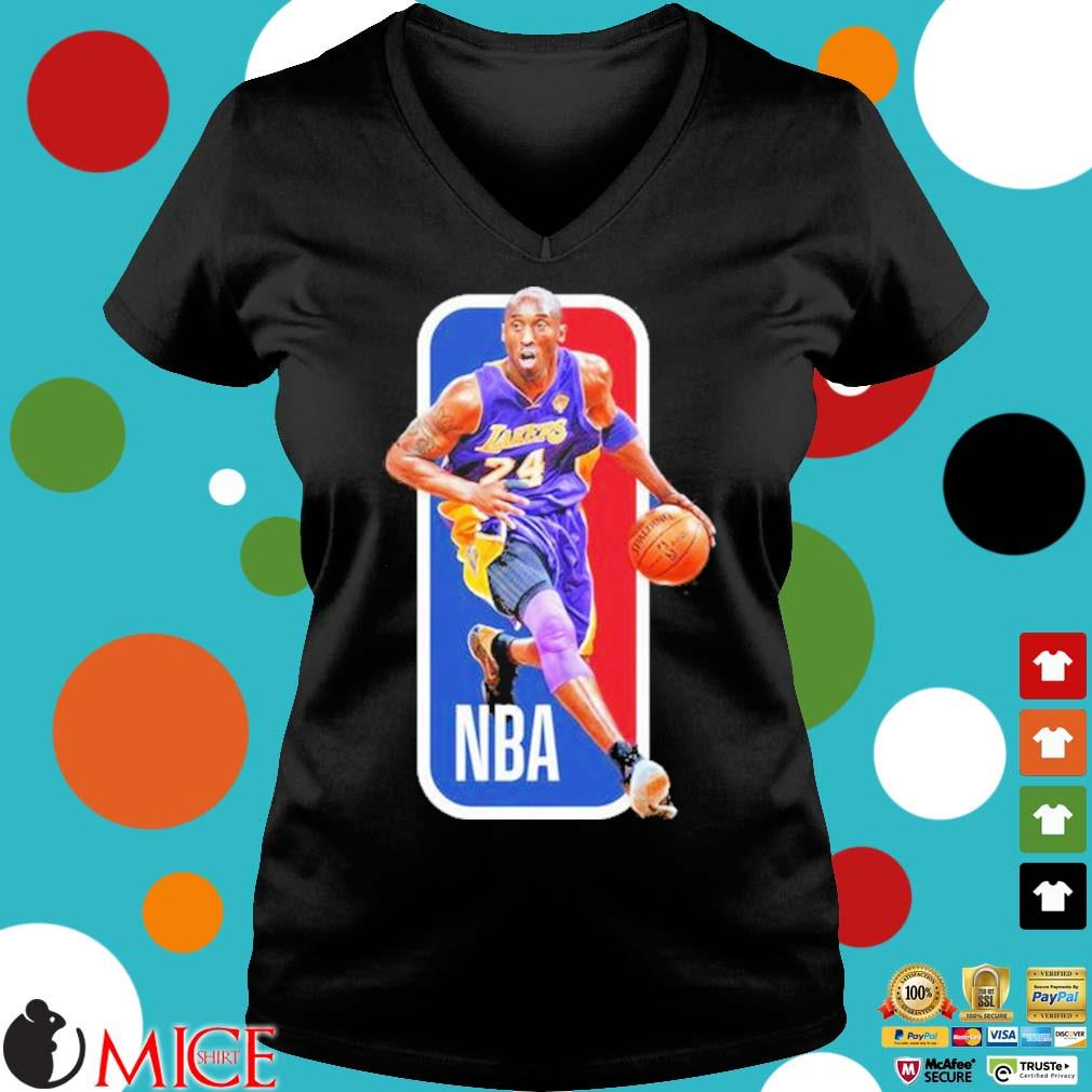 Kobe Bryant NBA Basketball Shirt Ladies V-Neck