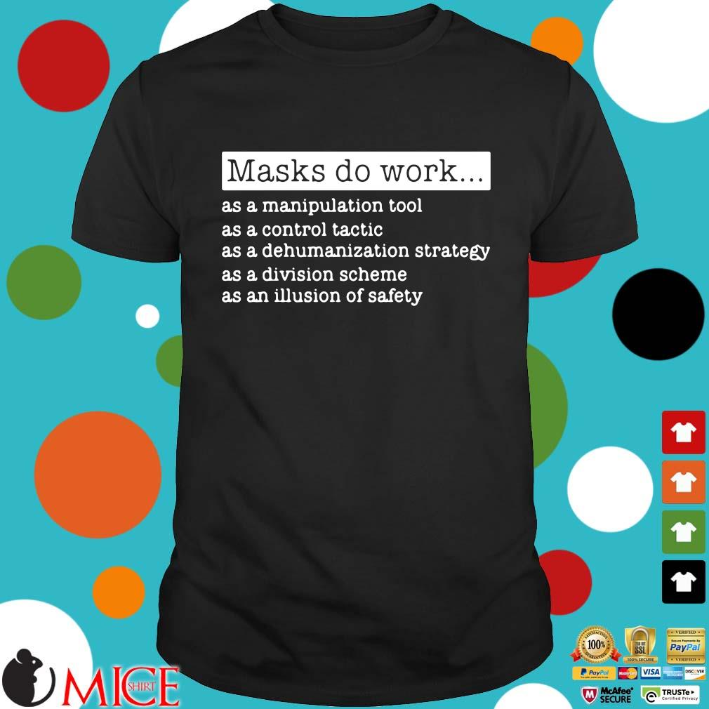 Masks do work as a manipulation tool as a control tactic shirt