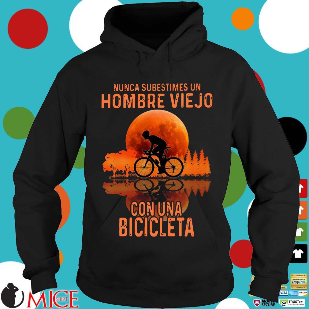 Nunca subestimes un hombre viejo con una bicicleta sunset Hoodie