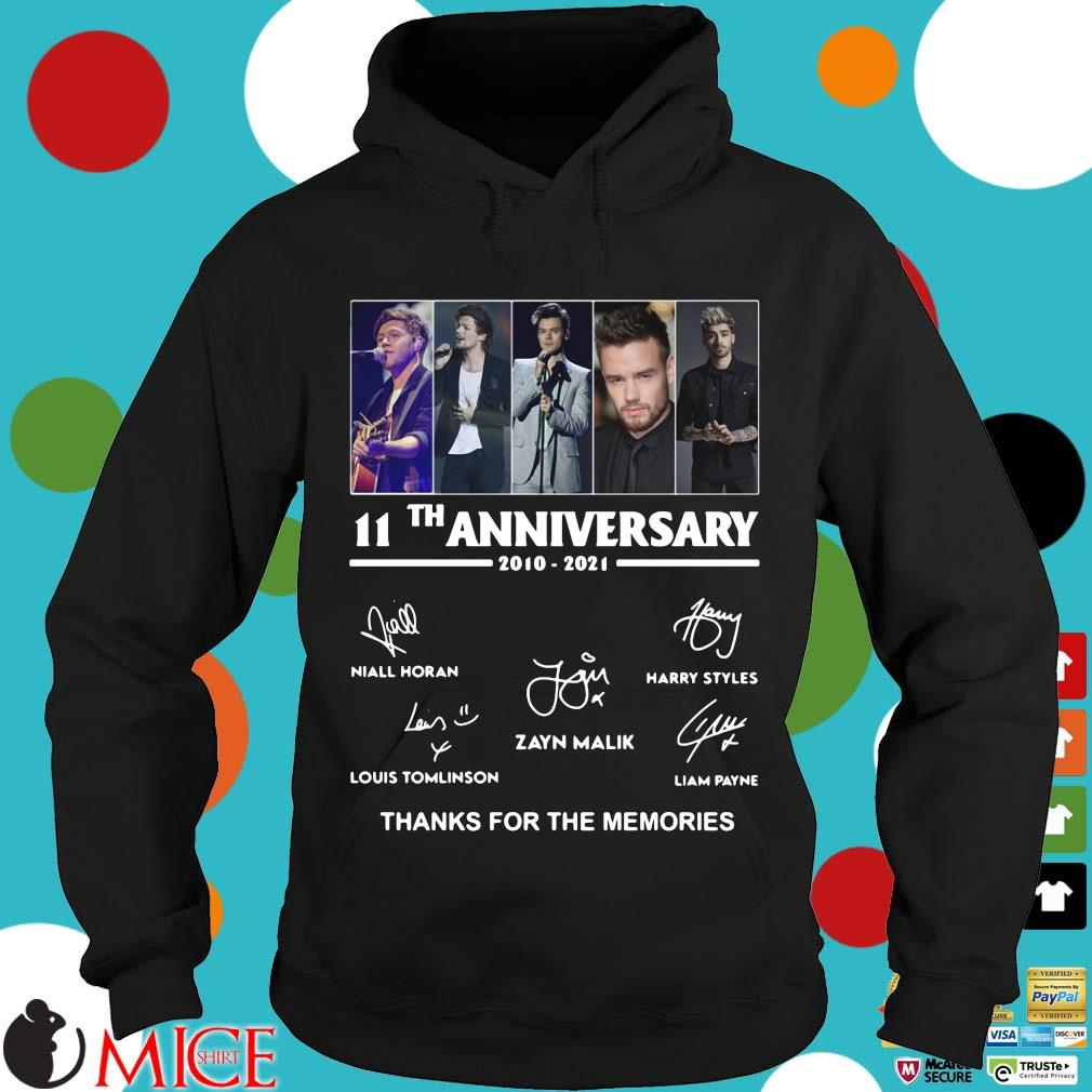 One Direction 11th anniversary 2010 2021 thanks for the memories signatures Hoodie