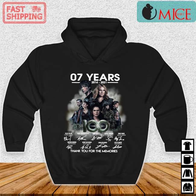 07 years 2014-2021 The 100 thank you for the memories signatures s Hoodie den