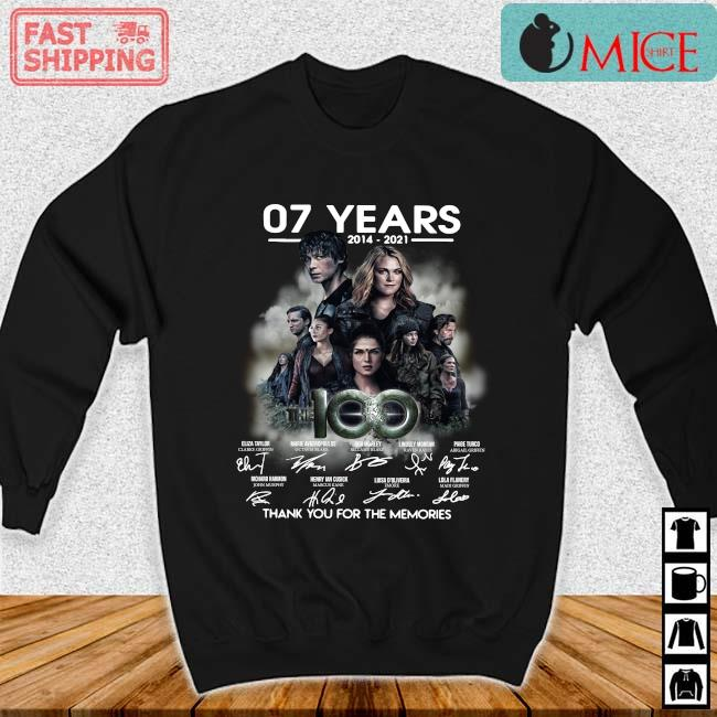 07 years 2014-2021 The 100 thank you for the memories signatures s Sweater den