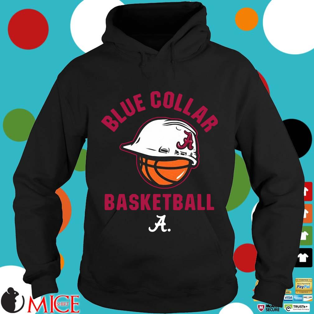 Alabama Crimson Tide blue collar basketball Hoodie