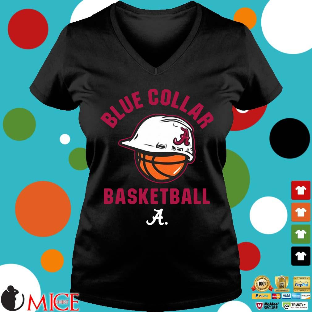 Alabama Crimson Tide blue collar basketball Ladies V-Neck