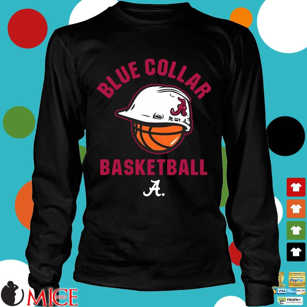 Alabama Crimson Tide blue collar basketball Longsleeve