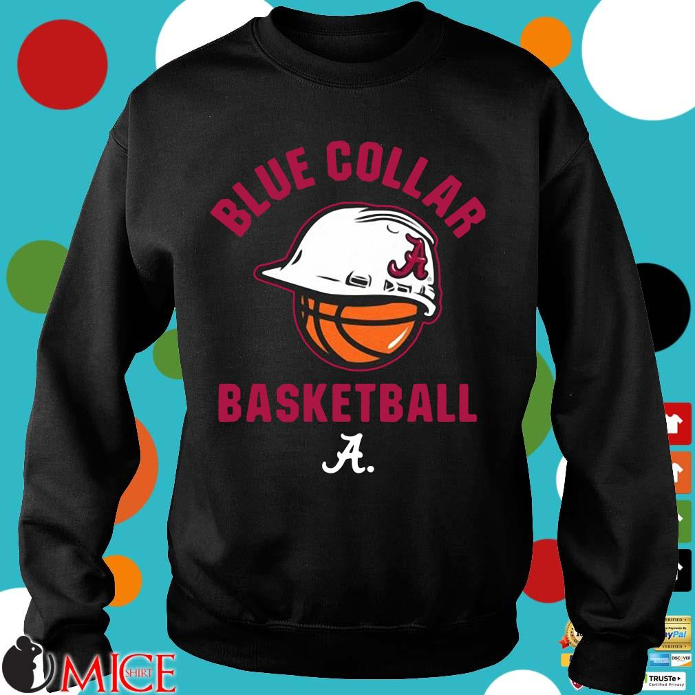 Alabama Crimson Tide blue collar basketball Sweater