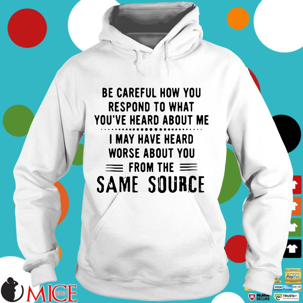Be careful how to respond to what you've heard about Me I may have heard worse about you from the same source Hoodie trang