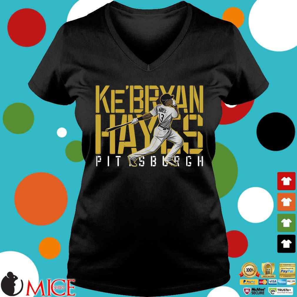 Ke'bryan Hayes Pittsburgh Baseball 2021 Shirt Ladies V-Neck