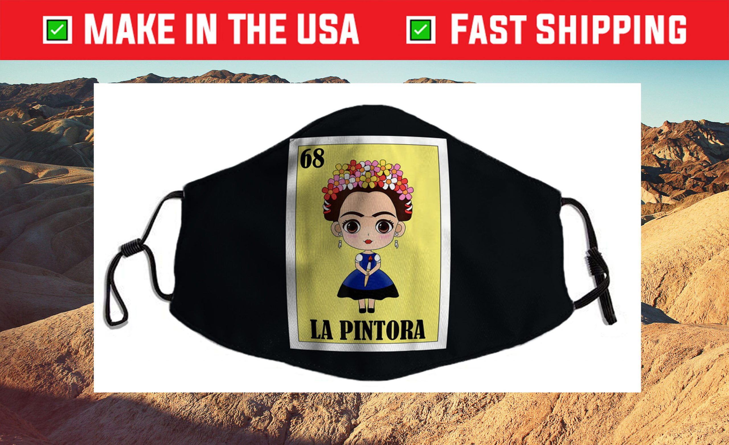 La Pintora Lottery - Mexican Lottery Cloth Face Mask