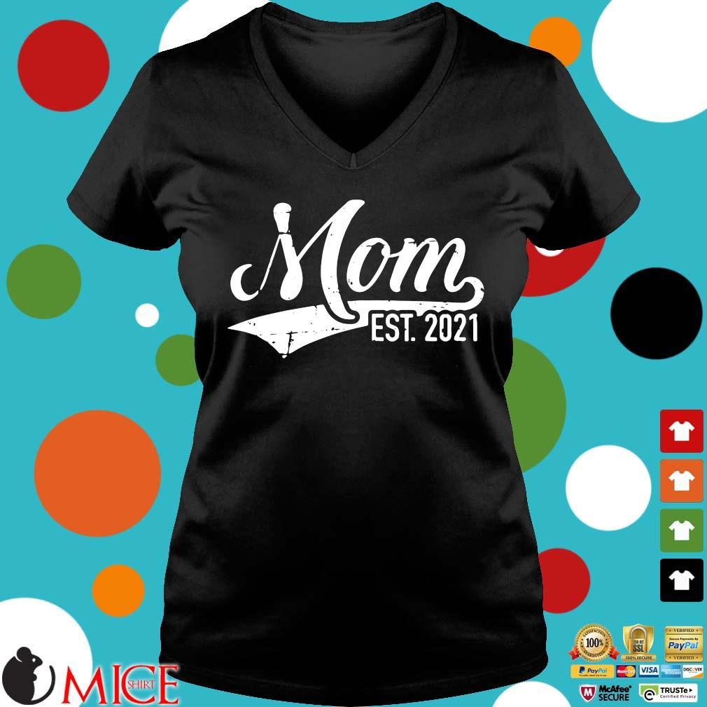 Mom est 2021 Ladies V-Neck