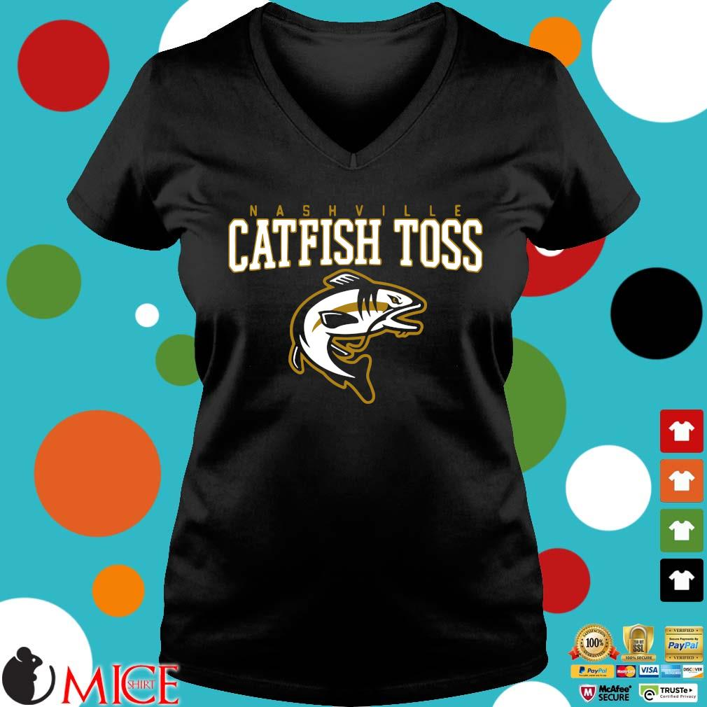 Nashville catfish toss Ladies V-Neck