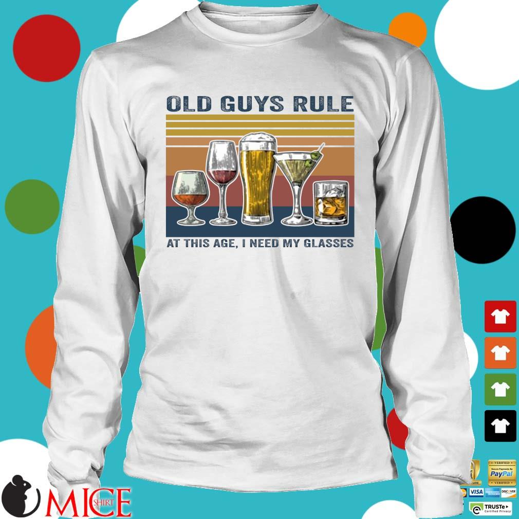Old guys rule at this age I need my glasses vintage Longsleeve trang
