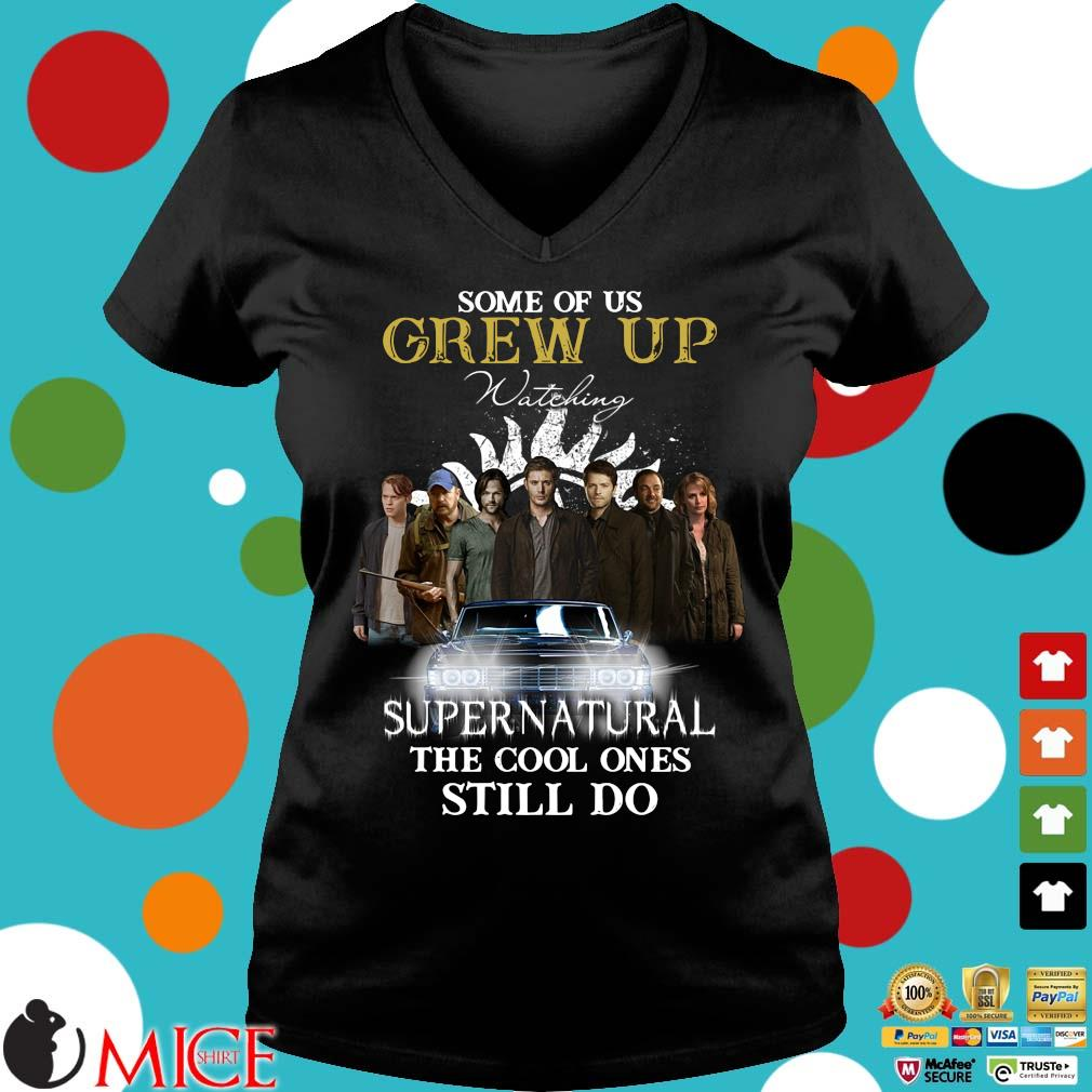 Some of us grew up watching Supernatural the cool ones still do Ladies V-Neck