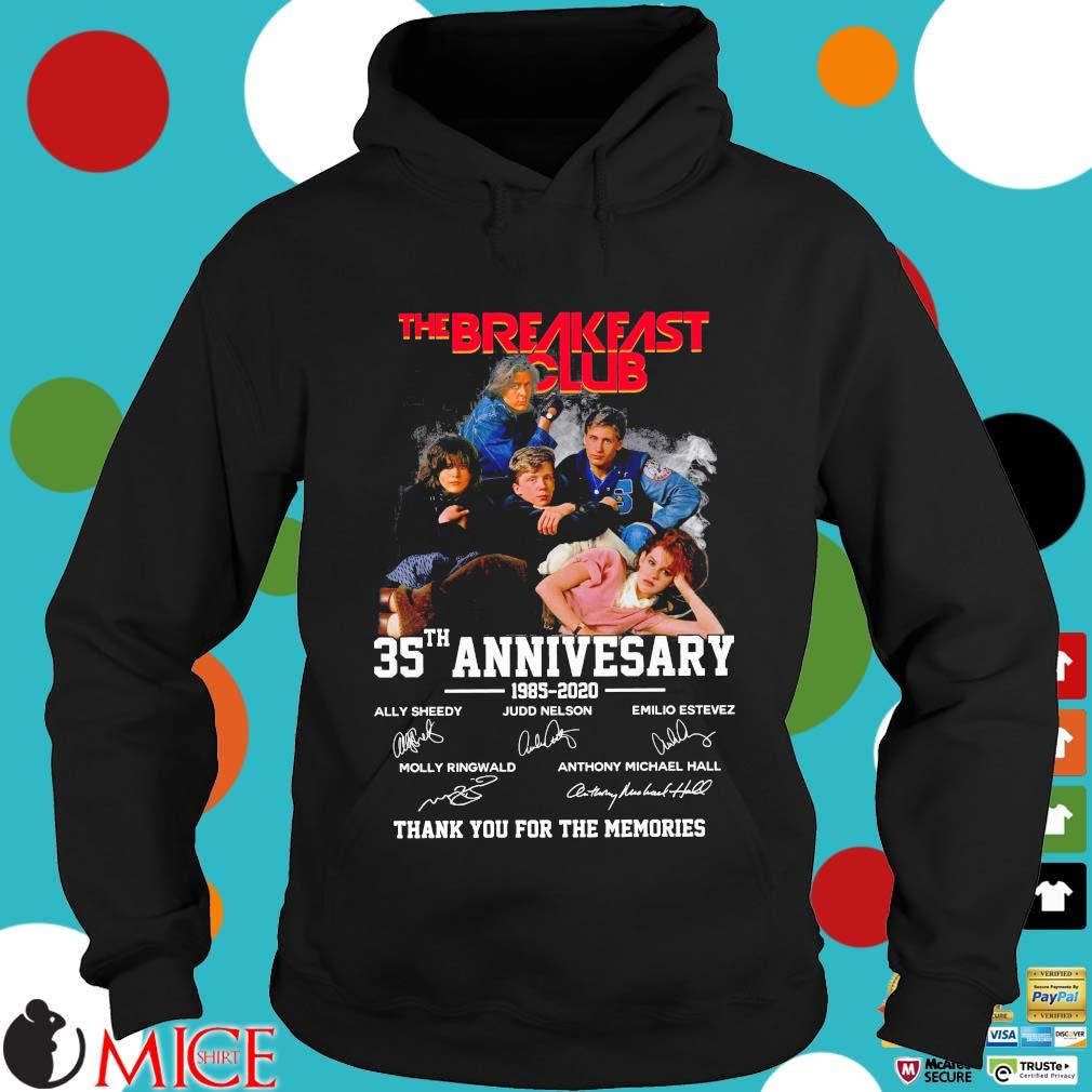 The Breakfast Club 35th anniversary 885-2020 thank you for the memories signatures Hoodie