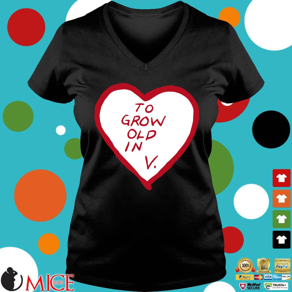 To grow old in heart Ladies V-Neck