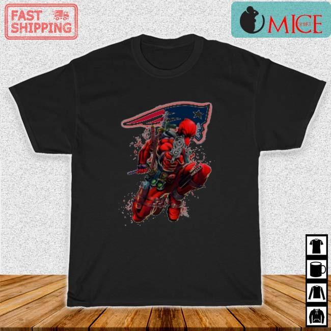 NFL Deadpool Marvel Comics Sports Football New England Patriots Shirt