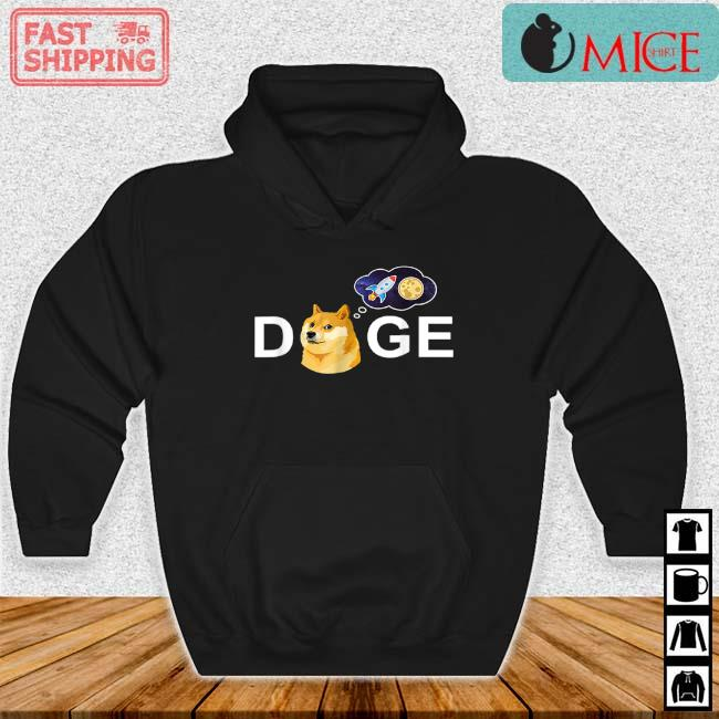 Dogecoin Doge HODL To The Moon Crypto Meme Shirt Hoodie den