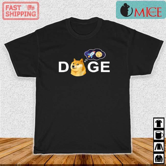 Dogecoin Doge HODL To The Moon Crypto Meme Shirt