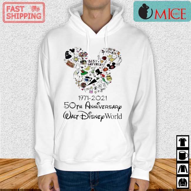 Mickey Mouse 1971 2021 50th Anniversary Walt Disney World Shirt Hoodie trang