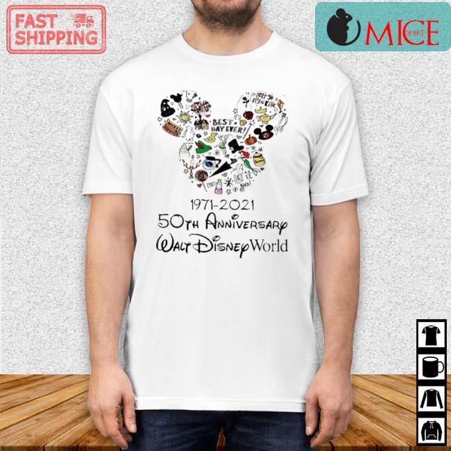 Mickey Mouse 1971 2021 50th Anniversary Walt Disney World Shirt