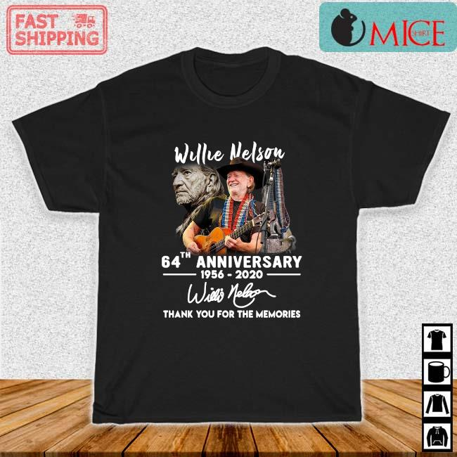 Willie Nelson 64th Anniversary 1957 2020 Signature Thank You 2021 Shirt