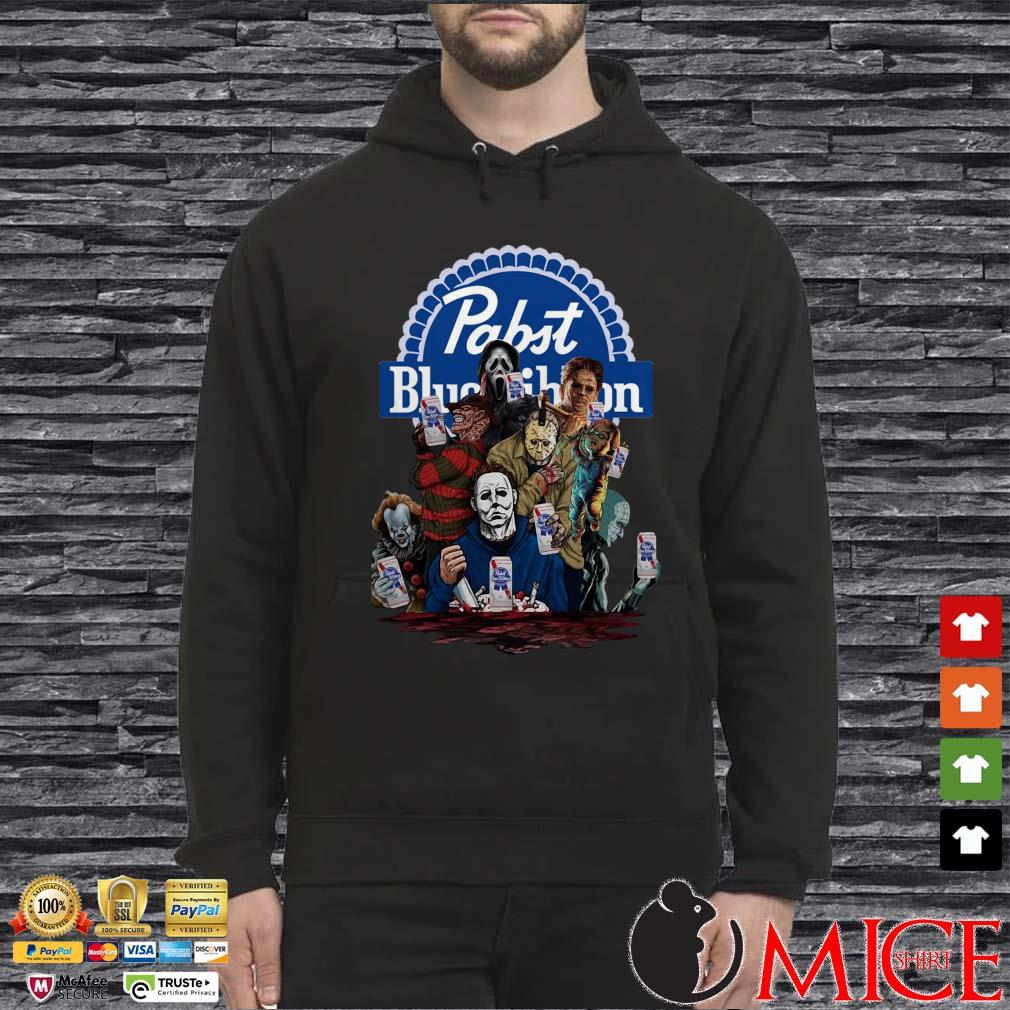 Horror Characters Pabst Blue Ribbon Hoodie