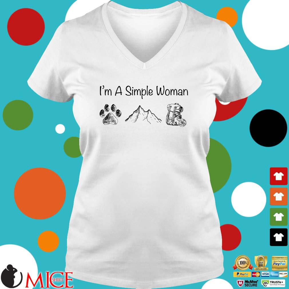 I_m a simple woman dog mountain and backpack shirt