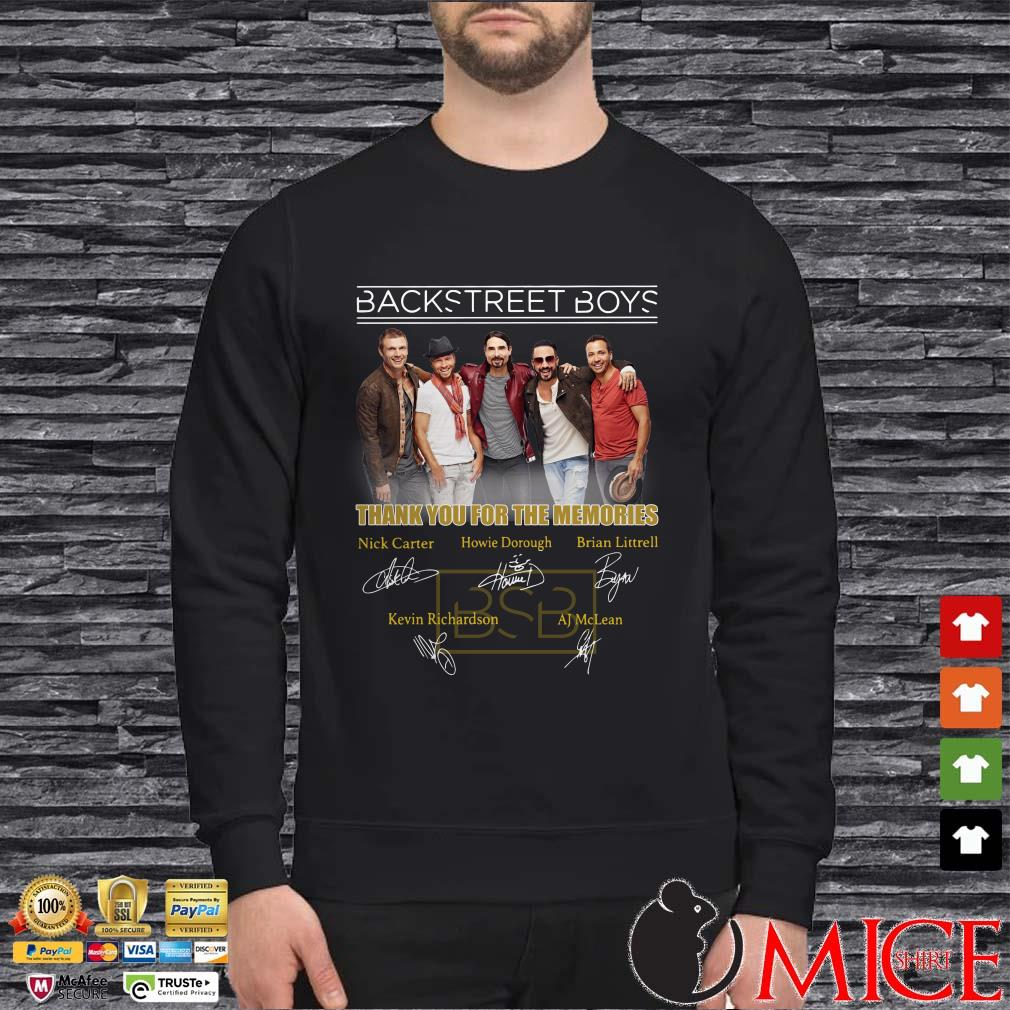 Backstreet Boys thank you for the memories shirt