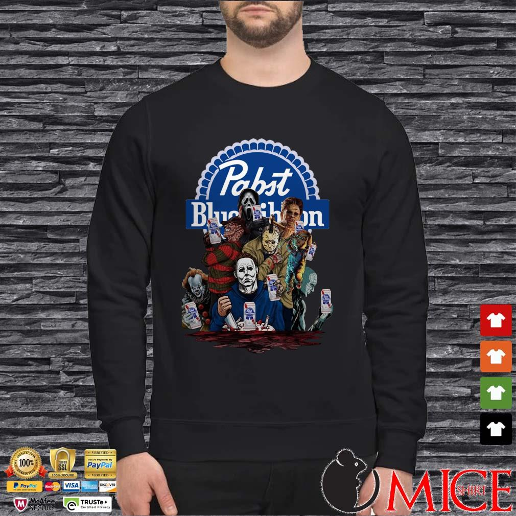 Horror Characters Pabst Blue Ribbon Shirt