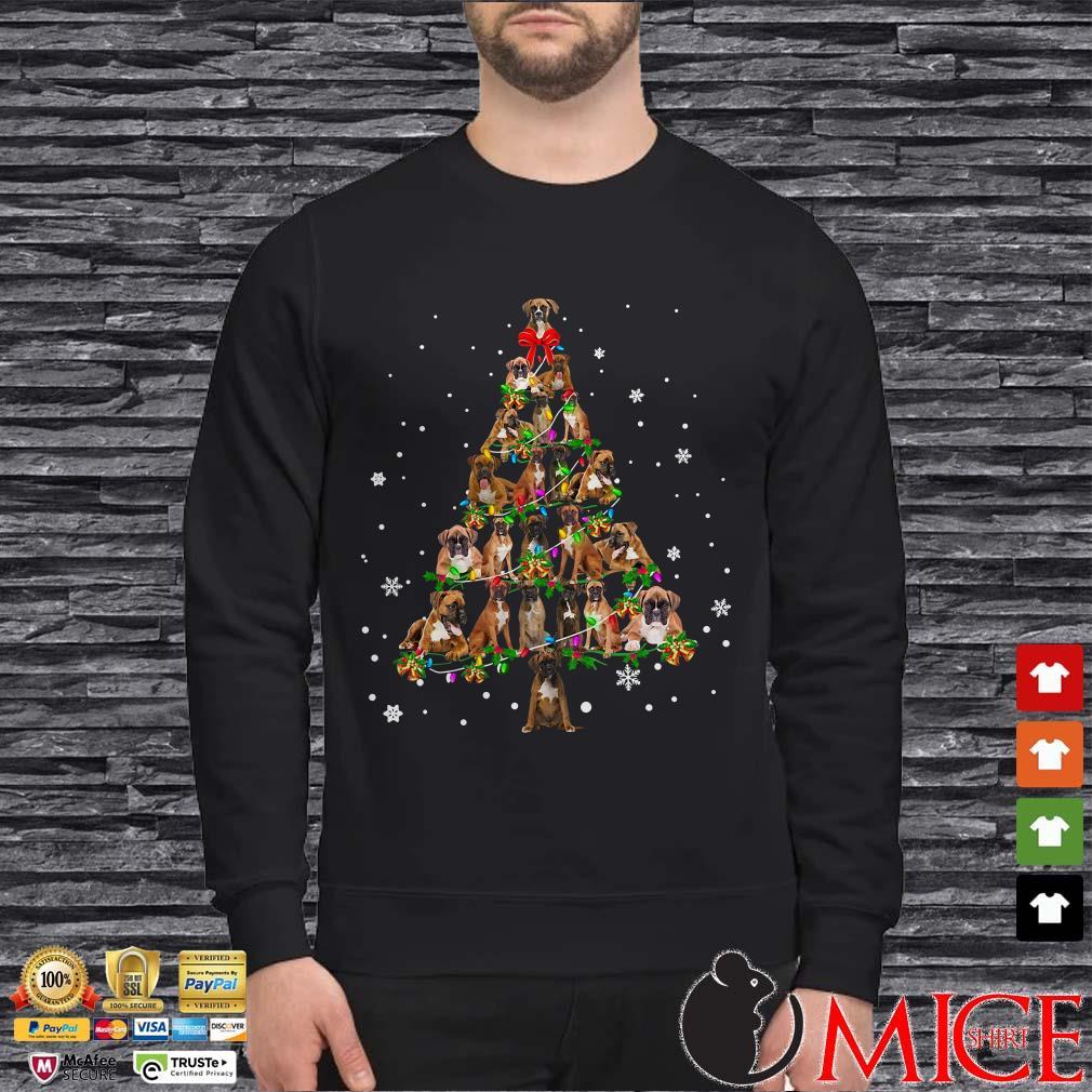 Boxer Christmas Tree shirt