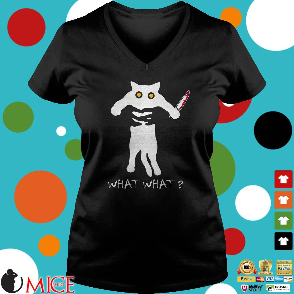 Cat What Horror Killer Halloween Kitten Costume ScaryShirt
