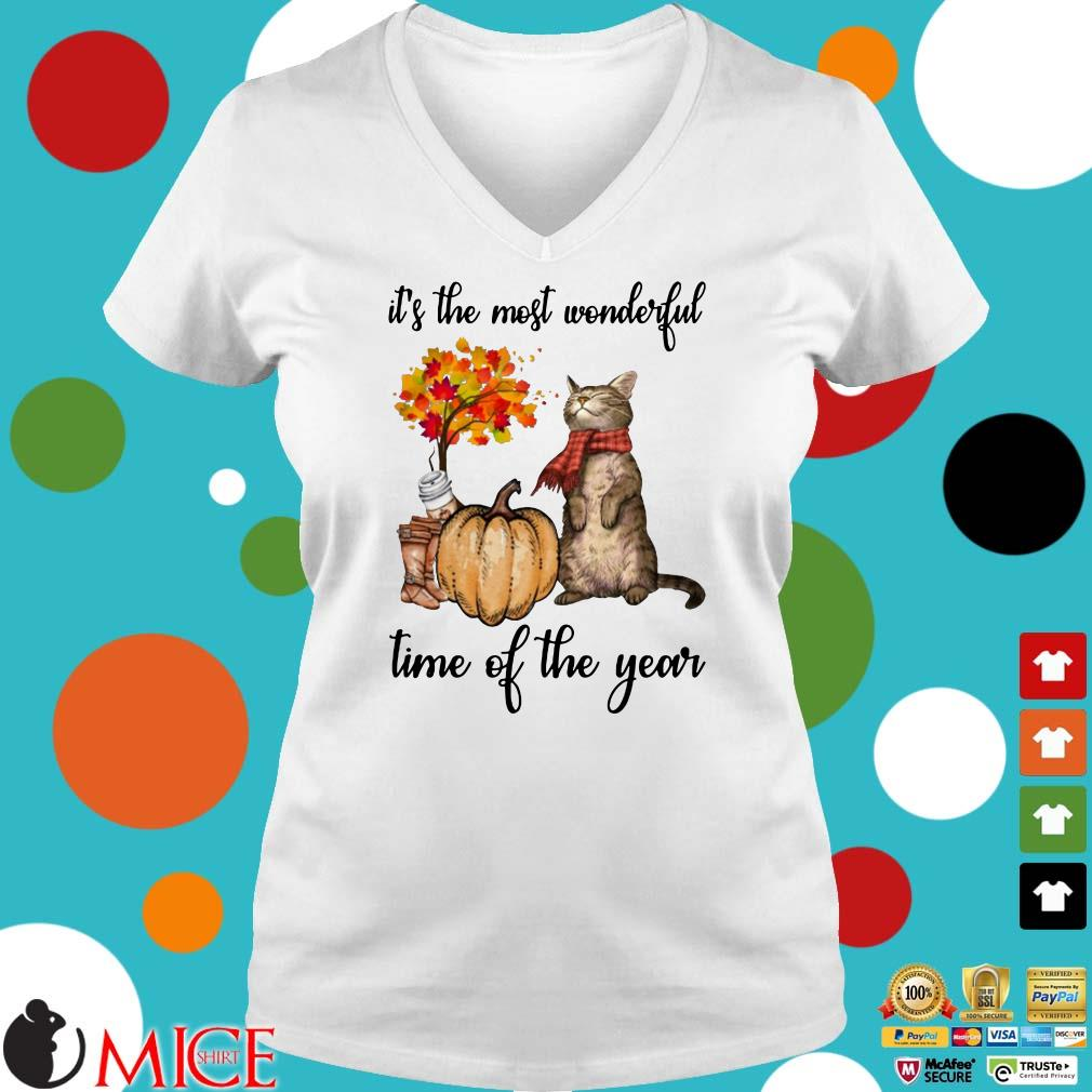 Cat it's the most wonderful time of the year halloween shirt