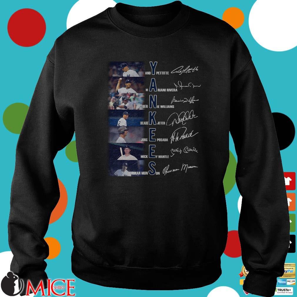 Yankees Andy Pettitte Mariano Rivera Bernie Williams Signature Shirt