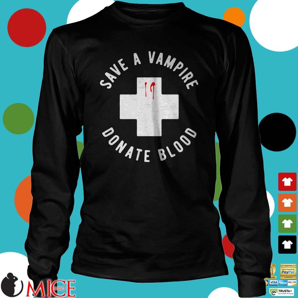 Save A Vampire Donate Blood Halloween Shirt