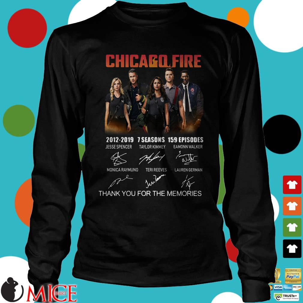 Chicago Fire 2012-2019 thank you for the memories shirt