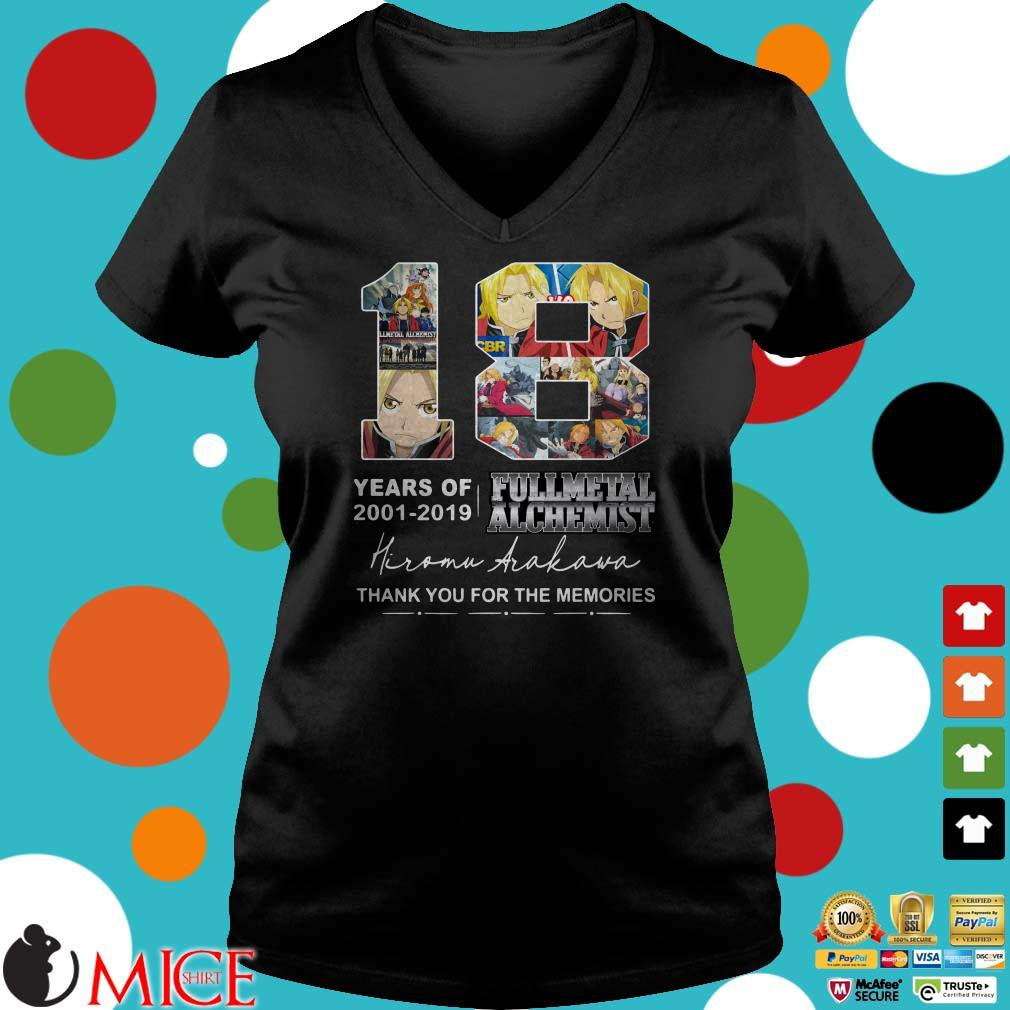 18 years of Fullmetal Alchemist 2001 2019 Hiromu Arakawa thank you Shirt