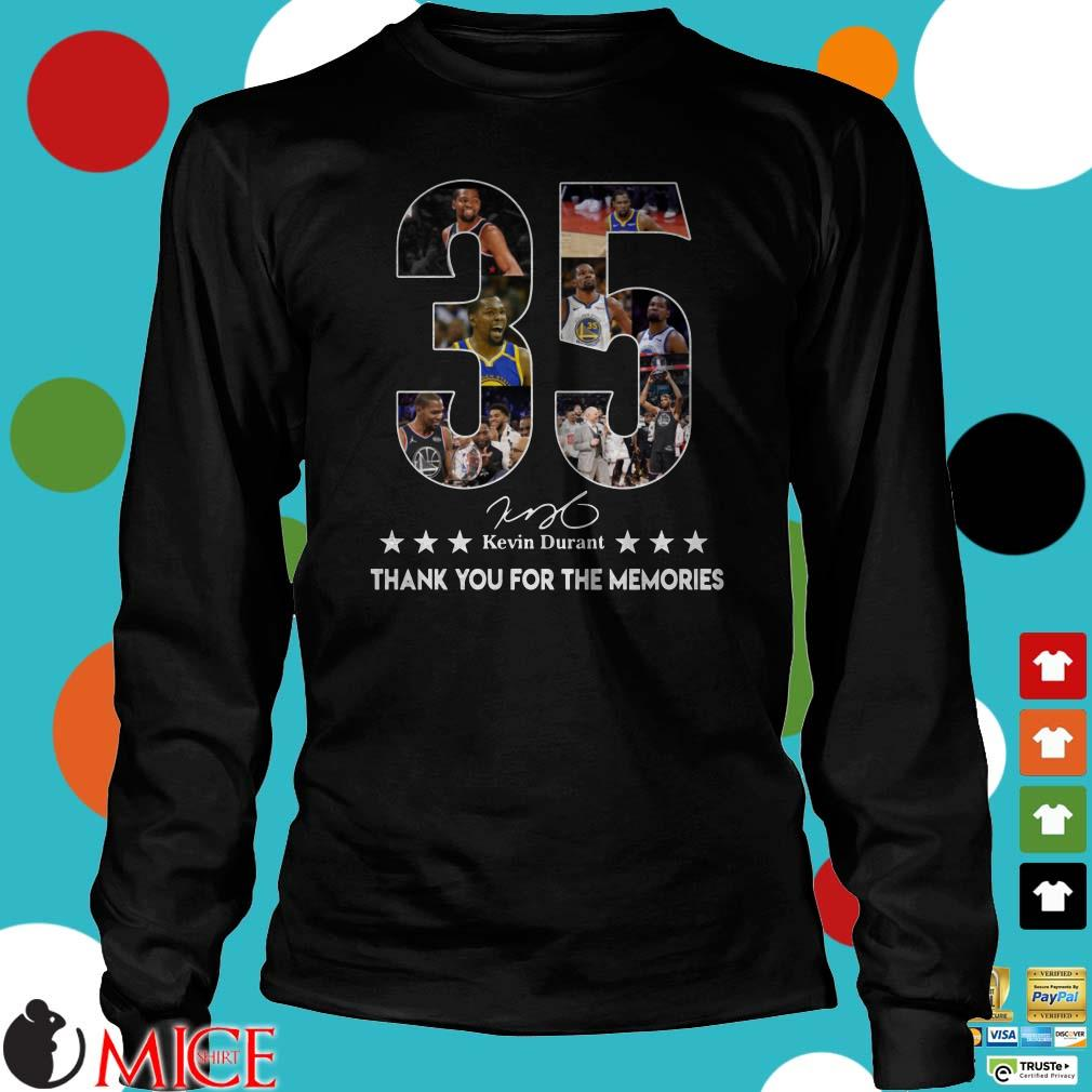 35 Kevin Durant thank you for the memories signature Shirt